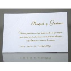 Tarjeta complemento invitación de boda Albahaca Thai