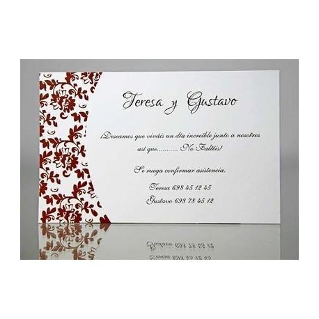 Tarjeta complemento invitación de boda Aloe Vera