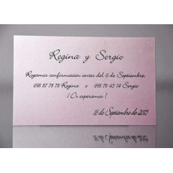 Tarjeta complemento invitación de boda Cantueso