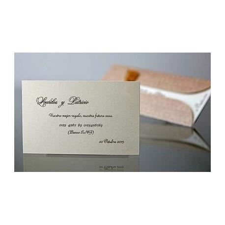 Tarjeta complemento invitación de boda Carqueja