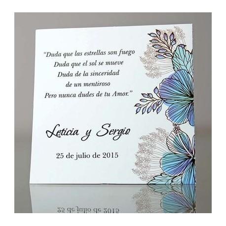 Tarjeta complemento invitación de boda Celidonia
