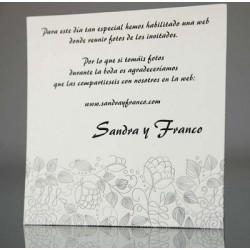 Tarjeta complemento invitación de boda Digitalis