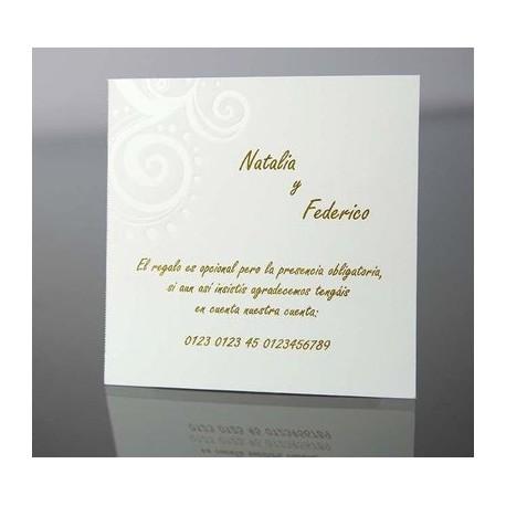 Tarjeta complemento invitación de boda Eneldo