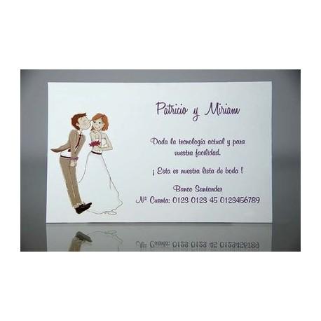 Tarjeta complemento invitación de boda Espliego
