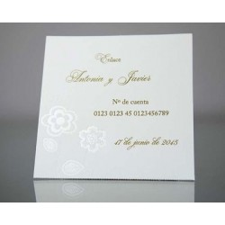 Tarjeta complemento invitación de boda Grosella