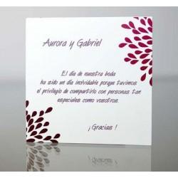 Tarjeta complemento invitación de boda Helenium