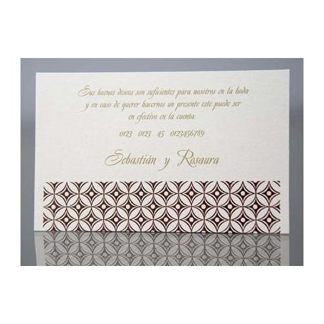 Tarjeta complemento invitación de boda Helicrisum