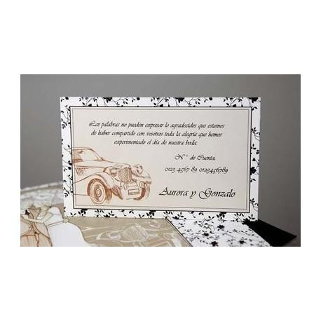 Tarjeta complemento invitación de boda Hierbabuena