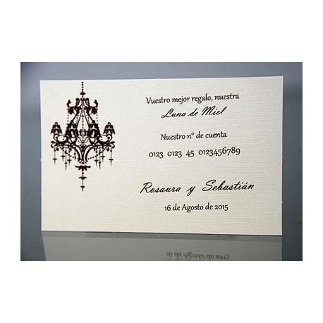 Tarjeta complemento invitación de boda Laurel