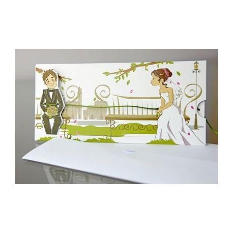 Invitacion de boda Geranio Citronela