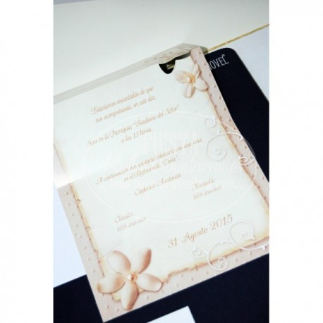 Invitacion de boda Milenrama