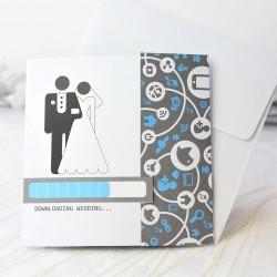 Invitacion de boda novios traje