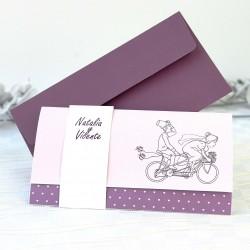 Invitacion de boda novios moto