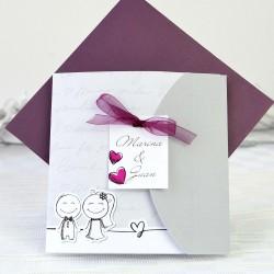 Invitacion de boda lazo vino