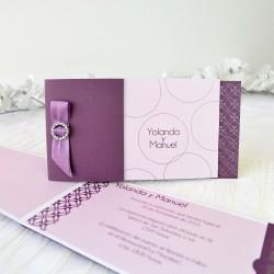 Invitacion de boda broche vino