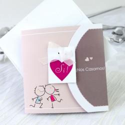 Invitacion de boda novios carita