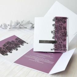 Invitacion de boda formas vino