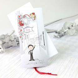 Invitacion de boda novio chao