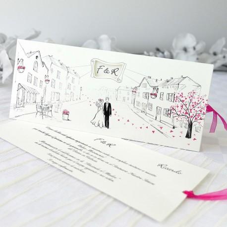 Invitacion de boda novios calle