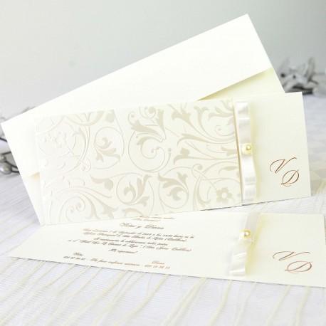 Invitacion de boda decoracion floral