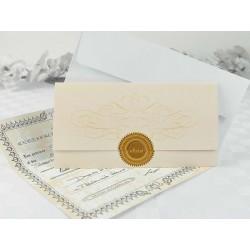 Invitación de boda certificado de matrimonio