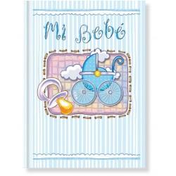 Libro bebé Azul Carrito