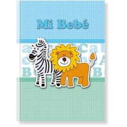 Libro bebé Azul Jirafa y León