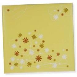 Libro firmas Amarillo Flores
