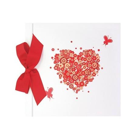 Libro de firmas boda lazo corazon y mariposas