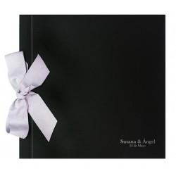 Libro de firmas boda lazo negro rojo