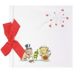 Libro de firmas boda lazo osos