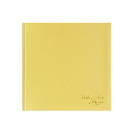 Libro de firmas boda oro brillo