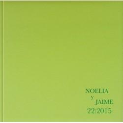 Libro de firmas boda verde