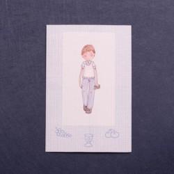 Portafoto comunión nino azul