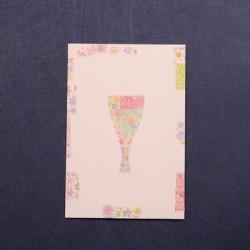 Portafoto comunión caliz de flores colores