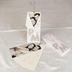 Invitacion de boda novios letras