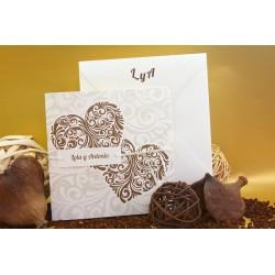 Invitacion de boda corazones tribal