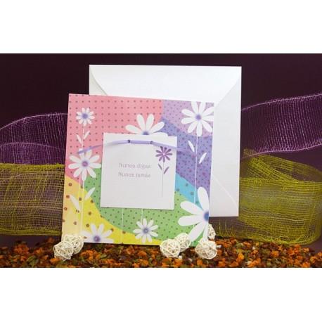 Invitacion de boda flores colores