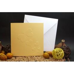 Invitacion de boda mariposa oro