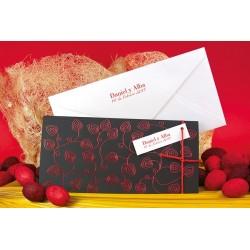 Invitacion de boda rojo y negro lazo