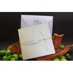 Invitacion de boda tribal verde