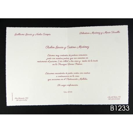 Invitación de boda baya mágica
