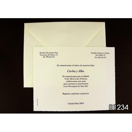Invitación de boda granada
