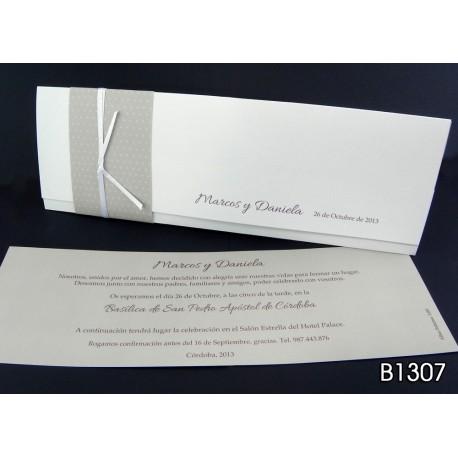 Invitación de boda grosella de tahití