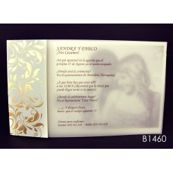 Invitación de boda guayabo blanco