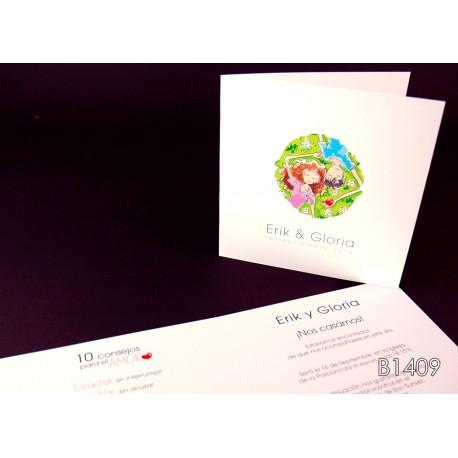 Invitación de boda icaco