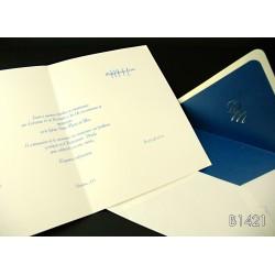 Invitación de boda jagua azul