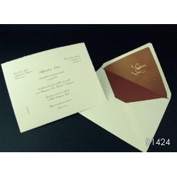 Invitación de boda algarrobo