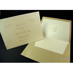 Invitación de boda mango ciruelo
