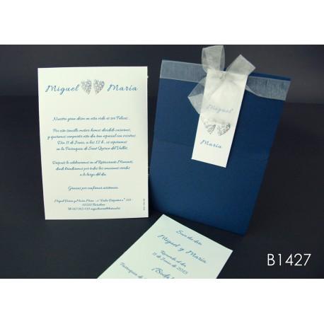 Invitación de boda ciruela de huesito
